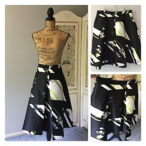 Lane Bryant Patterned Modernist Skirt Sz 20